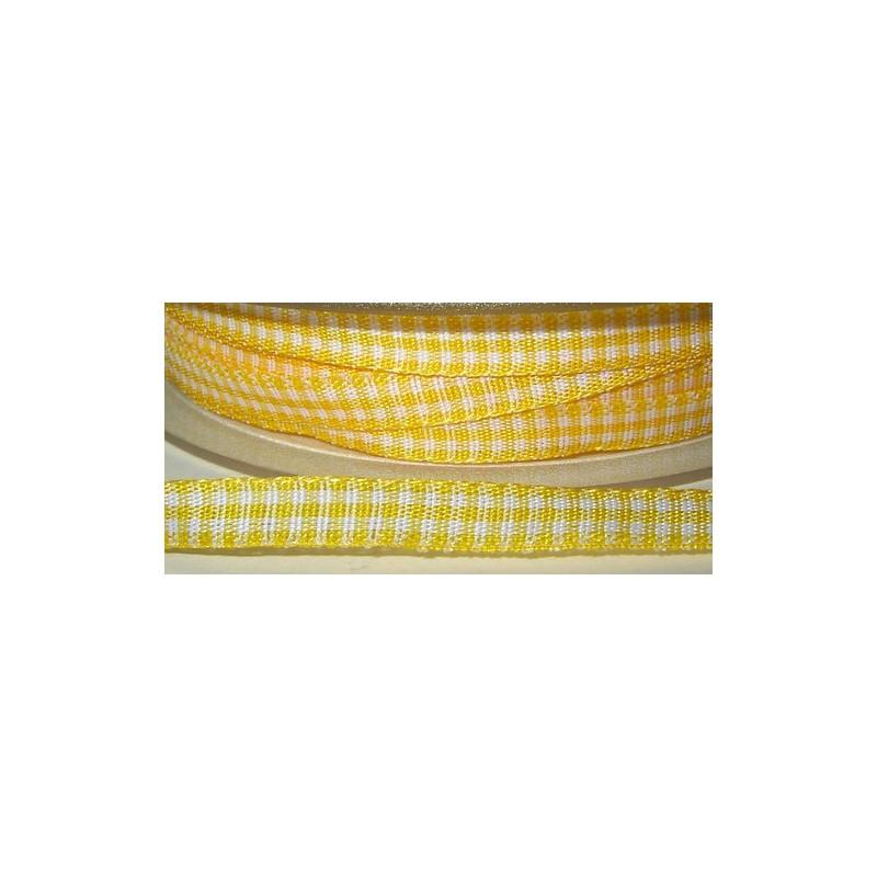 <b> Ruutunauha, leveys 5 mm, keltainen</b>