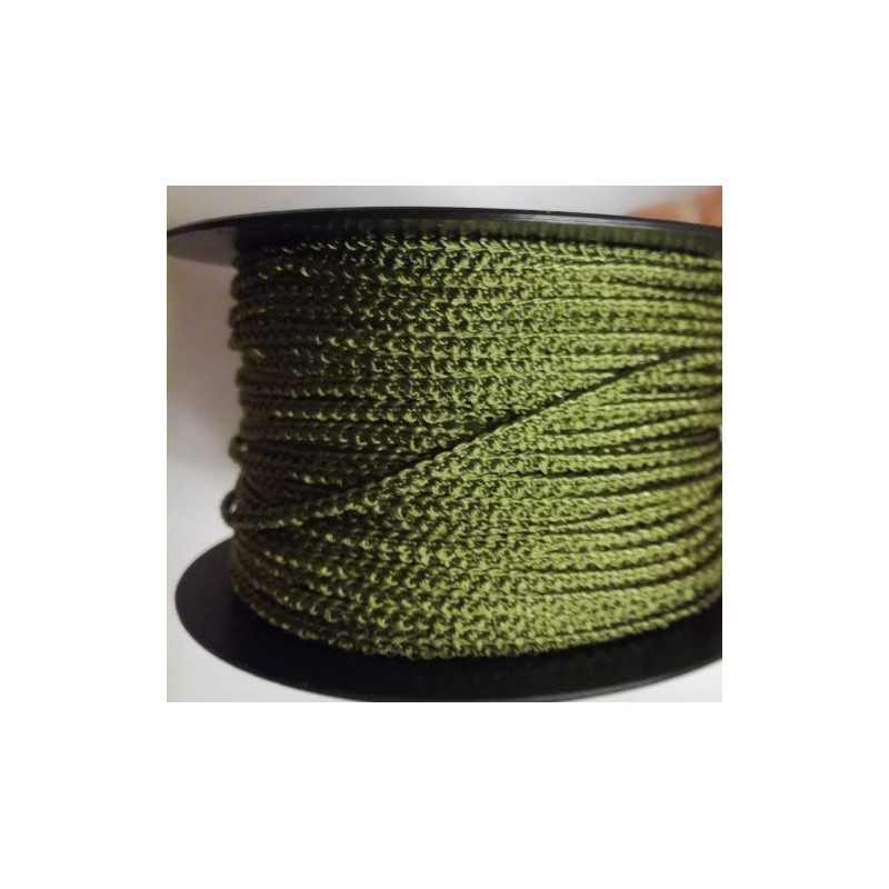 Knobbly-nauha, leveys 3 mm, sammaleenvihreä (2 metriä)