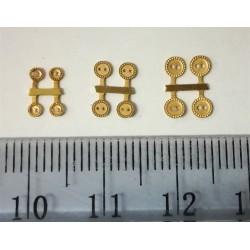 Pikkuruinen nappi, 2,5 mm (4 kpl)