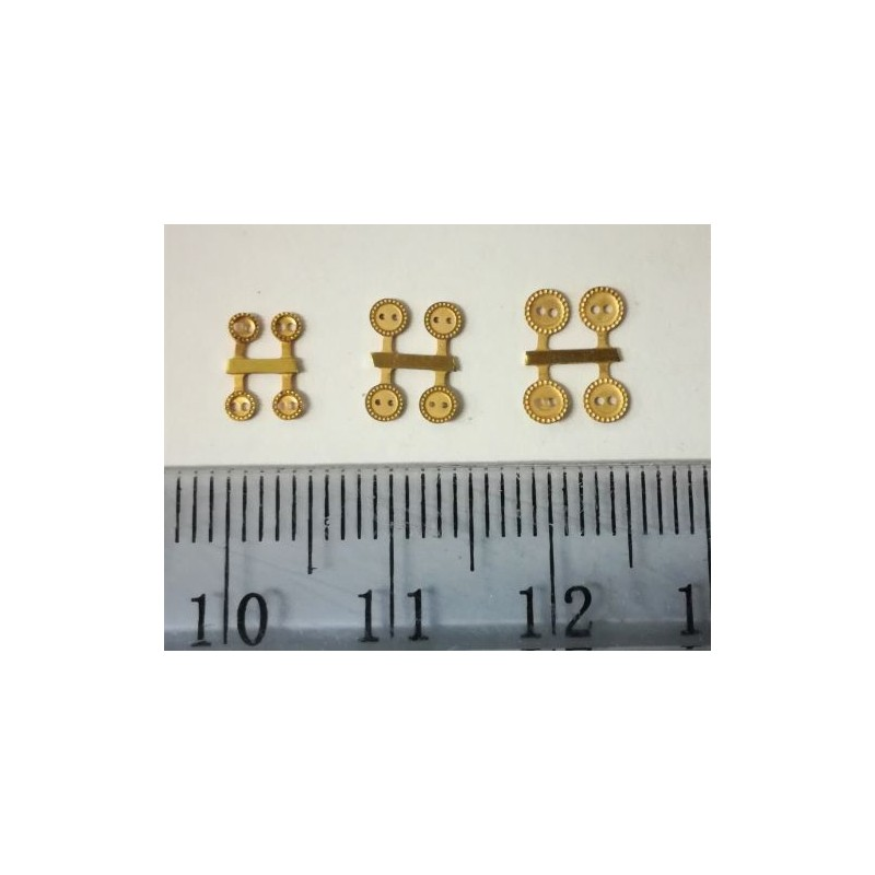 Pikkuruinen nappi, 3 mm (4 kpl)