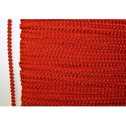 Knobbly-nauha, leveys 3 mm, punainen (2 metriä)