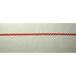 <b>Siksaknauha, leveys 3 mm, punainen</b>