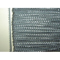 Picot-nauha, leveys 3 mm, hopeanharmaa (2 metriä)