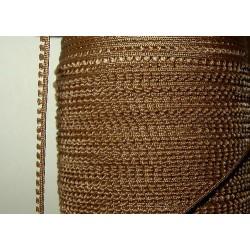 Picot-nauha, leveys 3 mm, pähkinänruskea (2 metriä)