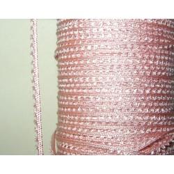 Picot-nauha, leveys 3 mm, vaaleanpunainen (2 metriä)