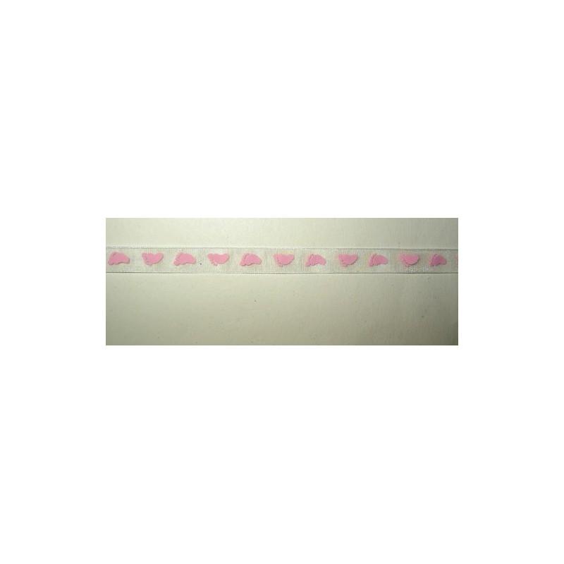 <b> Organzanauha, vauva, vaaleanpunainen, leveys 10 mm</b>