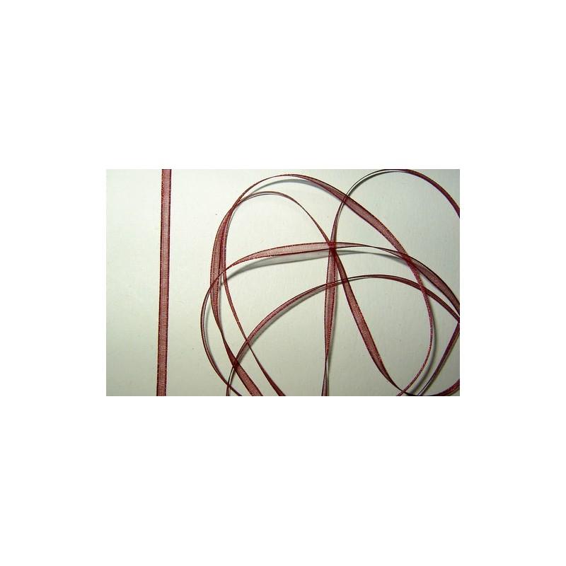 <b> Organzanauha, leveys 3 mm, viininpunainen</b>