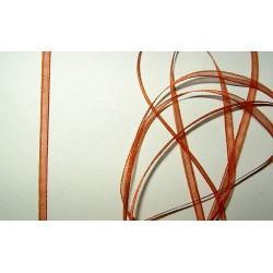 Organzanauha, leveys 3 mm, ruosteenpunainen