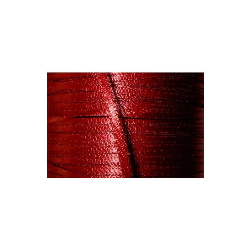 <b> Satiininauha, leveys 2 mm, viininpunainen</b>