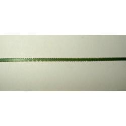 Satiininauha, leveys 3 mm, kultaraita vihreä (3 metriä)