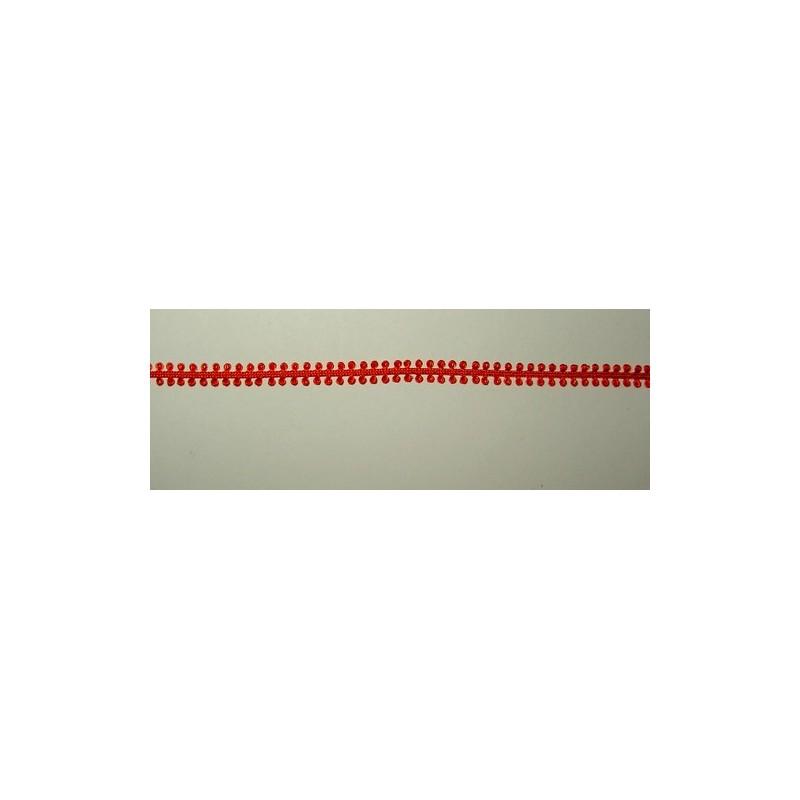 <b> Silmukkanauha, punainen, leveys 5 mm</b>