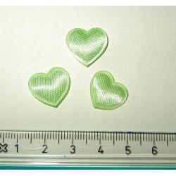Satiinisydän, vaaleanvihreä (10 kpl)
