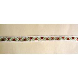 Kukkanauha, punavihreä, leveys 11 mm