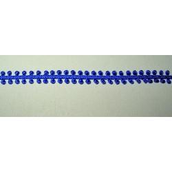 Silmukkanauha, sininen, leveys 5 mm
