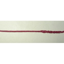 1 mm lacetnauha, vadelmainen vanharoosa (3 metriä)