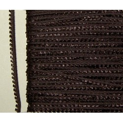 Picot-nauha, leveys 3 mm, tummanruskea (2 metriä)
