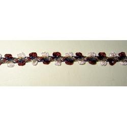 Koristenauha, punasävy, leveys 9 mm