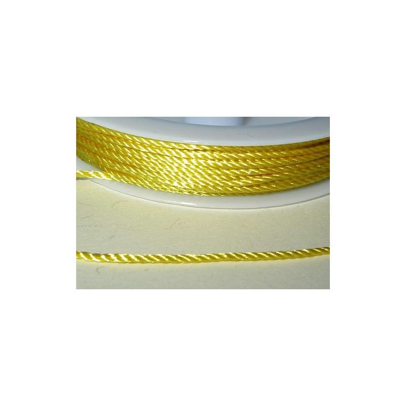 <b>Satiininyöri keltainen, leveys 1 mm (12 metriä)</b>
