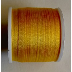 Silkkinauha, kullankeltainen, leveys 4 mm (3 metriä)