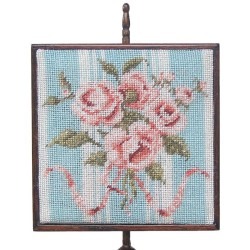 NM48 Square Pole Screen, Peach Bouquet