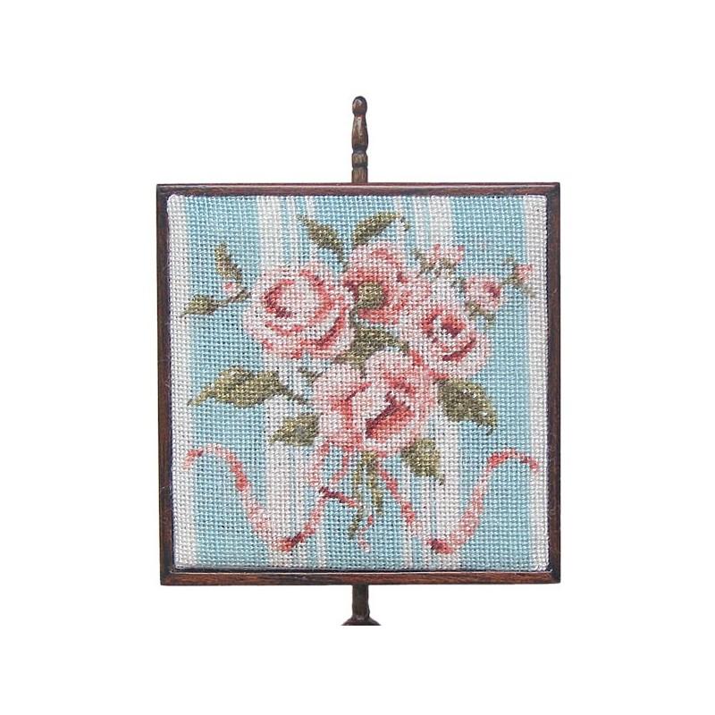 <b>NM48 Square Pole Screen, Peach Bouquet </b>