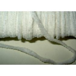 Chenillenauha thick, leveys n. 5 mm, luonnonvalkoinen (3 metriä)