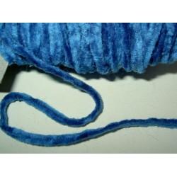 Chenillenauha thick, leveys n. 4 mm, sininen (3 metriä)