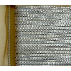 Knobbly-nauha, leveys 3 mm, jäänsininen (2 metriä)