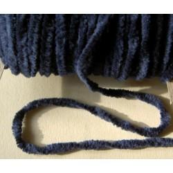 Chenillenauha thick, leveys n. 4 mm, tummansininen (3 metriä)
