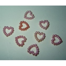 Helmisydän, vaaleanpunainen (10 kpl)