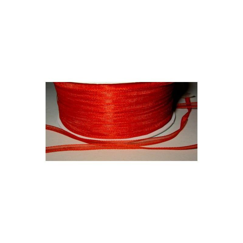 <b>Organzanauha, 3 mm punainen</b>