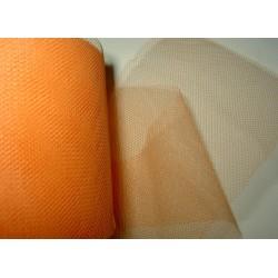 <b>Tyllinauha, persikka, leveys n. 7,5 cm</b>