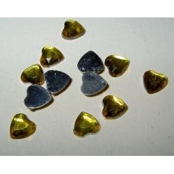 Akryylitimantti, sydän keltainen (50 kpl)