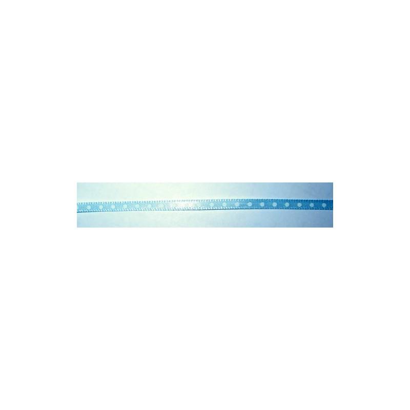 <b>Satiininauha polka dot, leveys 4 mm, vaaleansininen</b>