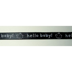 Satiininauha, hello baby, leveys 10 mm