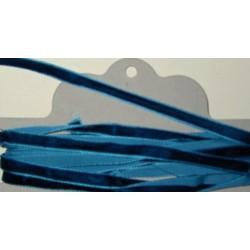 Samettinauha, leveys 7 mm, tumma turkoosi (5 metriä)