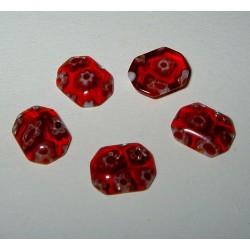 LH millefioriflatback, punainen (15 kpl)