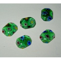 LH millefioriflatback, vihreä (15 kpl)