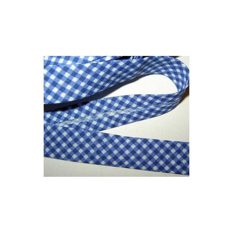 <b>Ruutukanttinauha, leveys 19 mm, sininen</b>