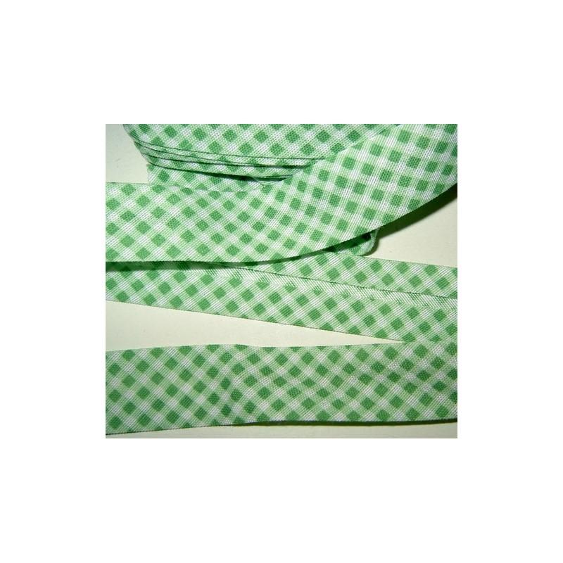 <b>Ruutukanttinauha, leveys 20 mm, vihreä</b>
