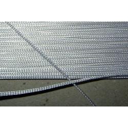 1 mm lacetnauha, valkoinen (3 metriä)