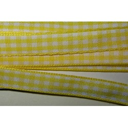 Ruutunauha, leveys 10 mm, keltainen (2 metriä)