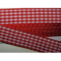 Ruutunauha, leveys 15 mm, punainen (2 metriä)