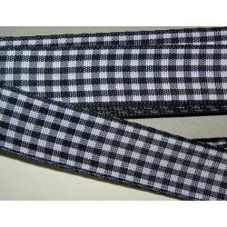 Ruutunauha, leveys 15 mm, musta (2 metriä)