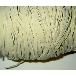 Keinomokkanauha, vaalea beige, leveys 3 mm (3 metriä)