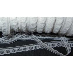 Pitsi, valkoinen, leveys 8 mm