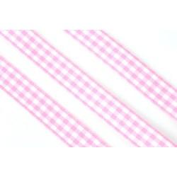 Ruutunauha, leveys 10 mm, vaaleanpunainen (2 metriä)
