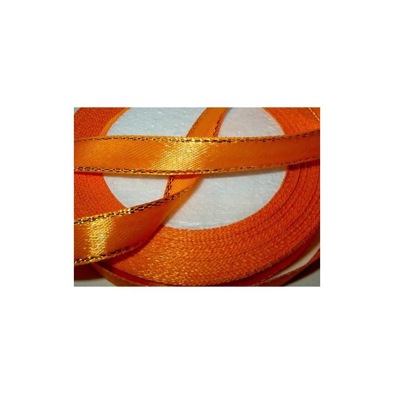 <b>Satiininauha, kultaraita oranssi, leveys 10 mm</b>