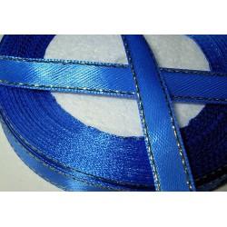 Satiininauha, kultaraita sininen, leveys 10 mm (2 metriä)