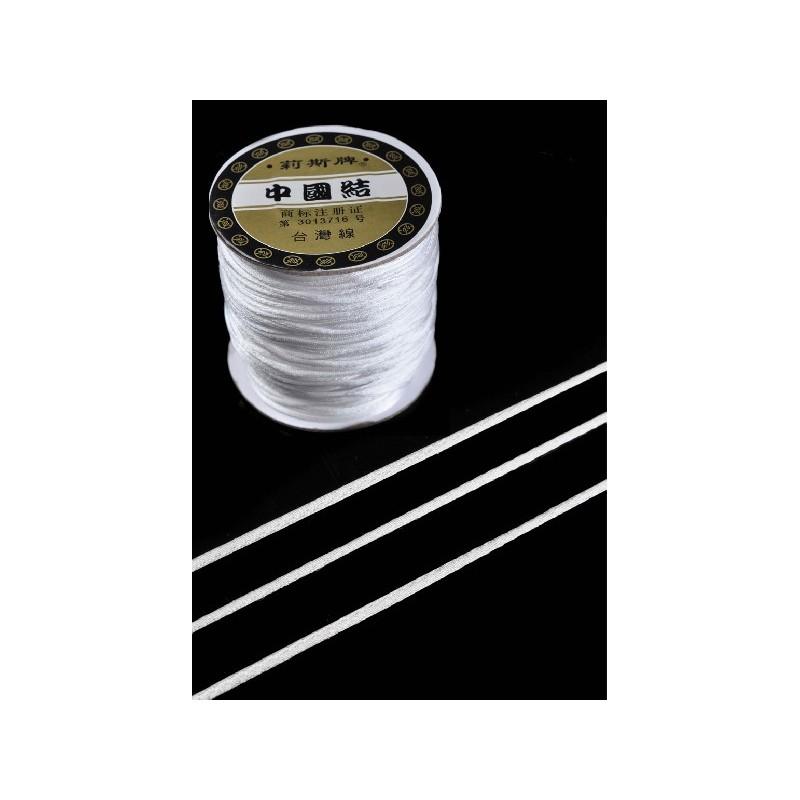 <b>Satiininyöri valkoinen, leveys 1,5 mm (5 metriä)</b>